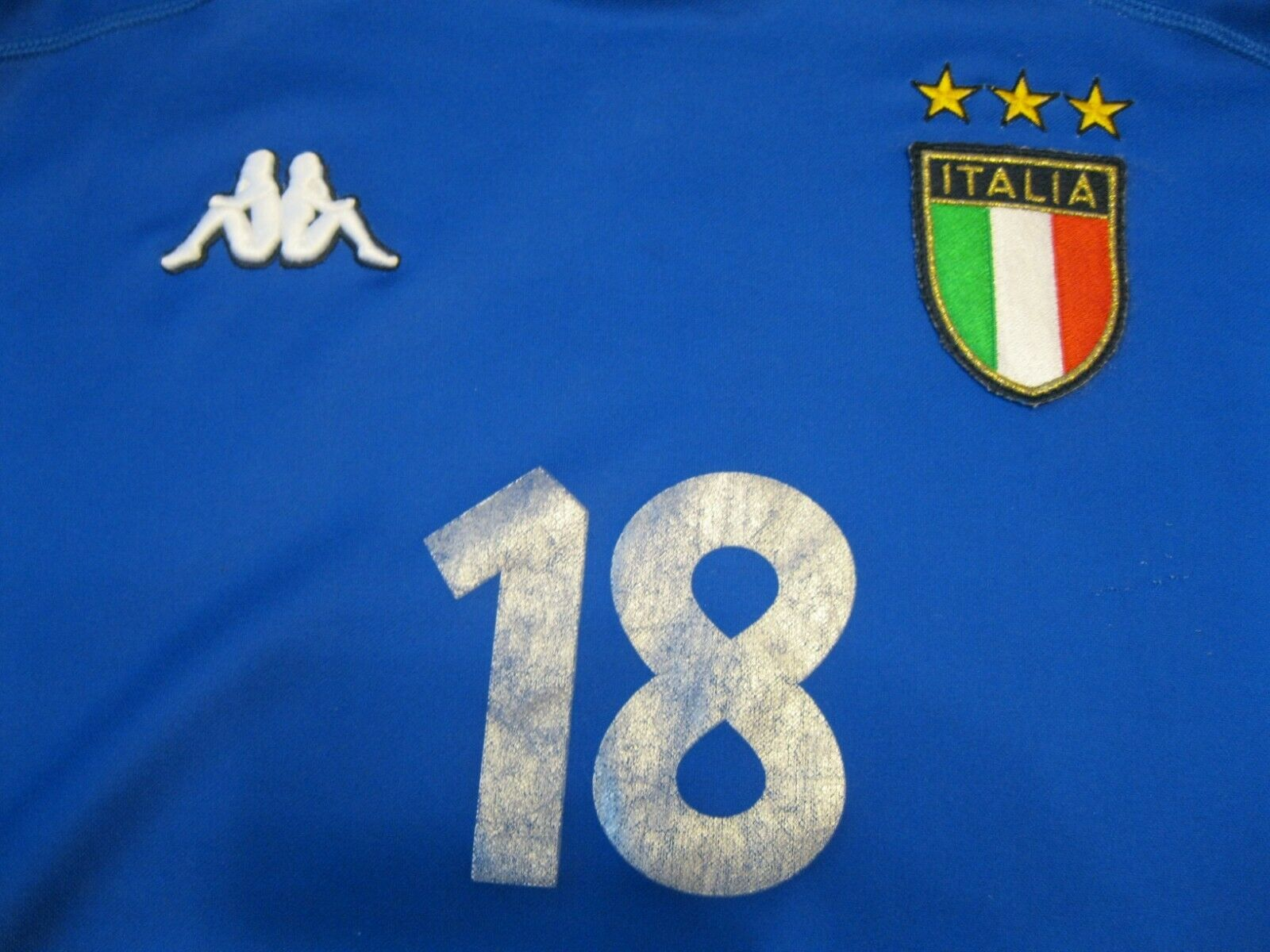Italy national team 1999/2000 home #18 Size L Kappa jersey