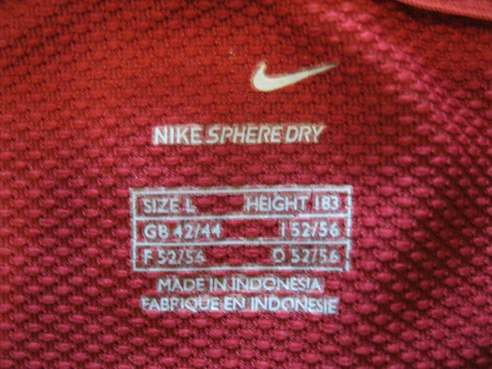 Portugal national team 2006/2008 Home Size L Nike u6sys jersey