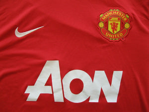 Manchester United #18 Young 2011/2012 Size M Home Nike 423933-623 jersey