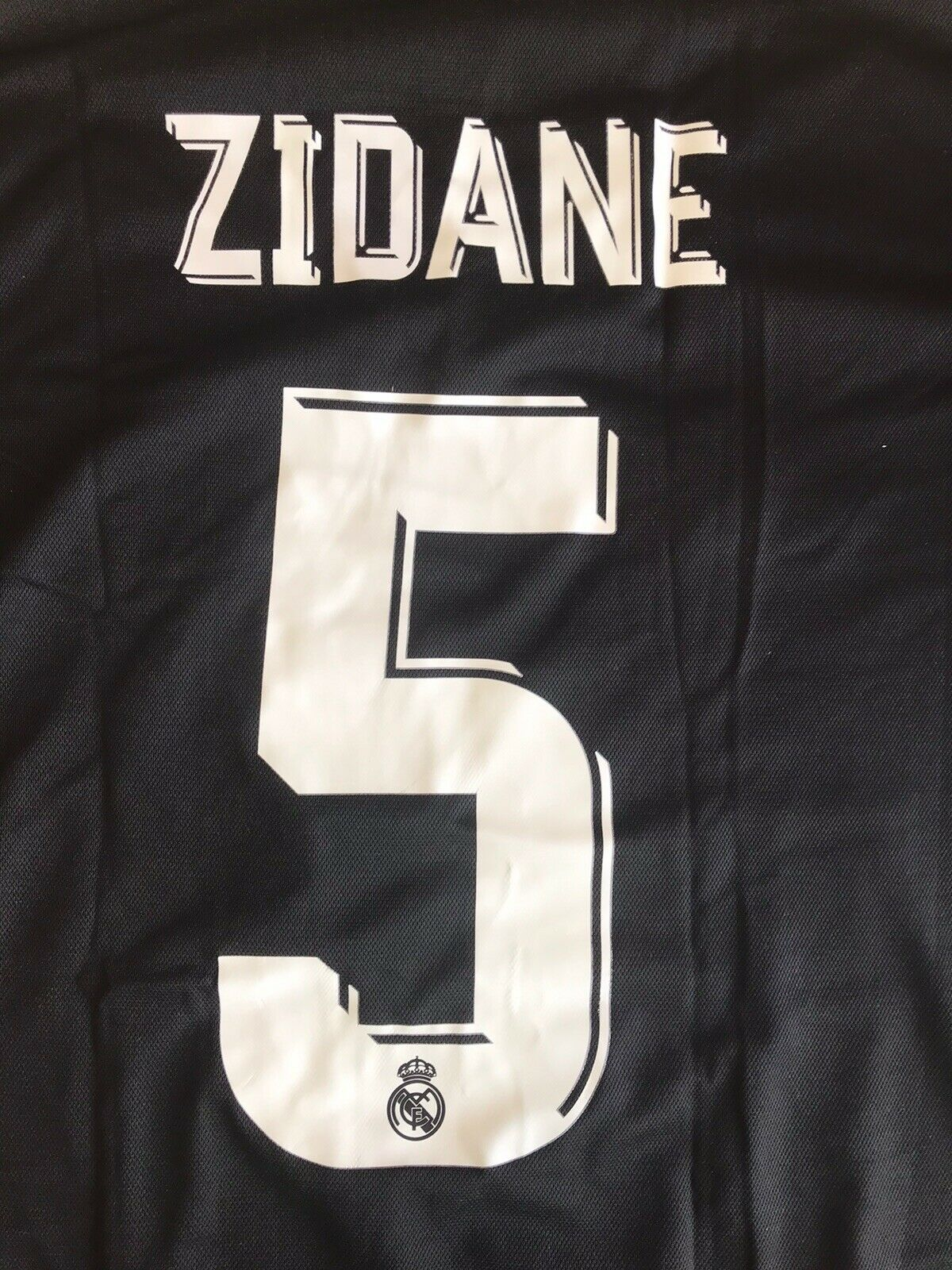Real Madrid #5 Zidane 2017/2018 Away Size S Adidas BR3543 jersey