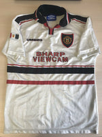 Load image into Gallery viewer, BOYS Manchester United 1997/1998/1999 Away Size 158 Umbro jersey