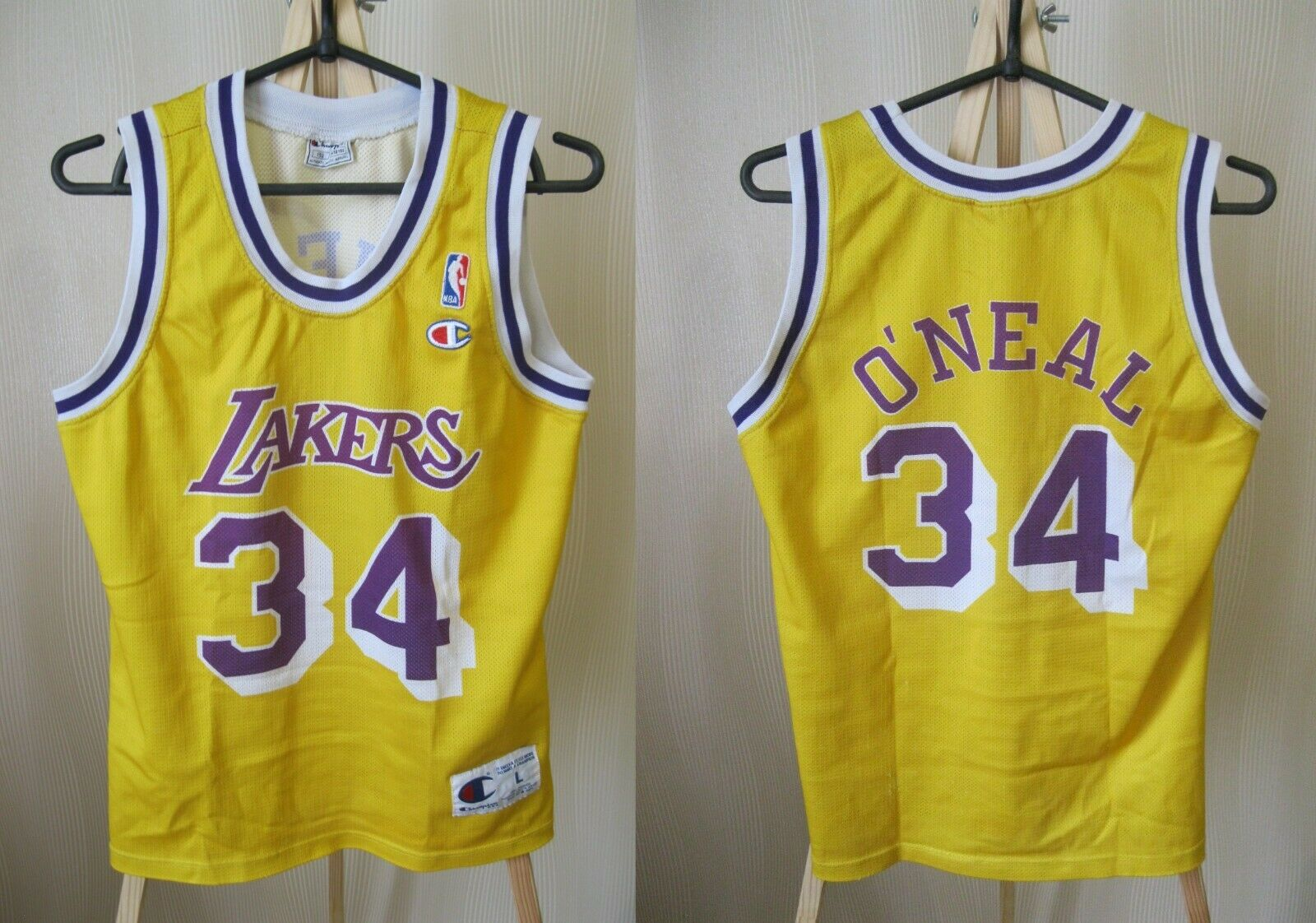 Kids Los Angeles Lakers #34 O'Neal Size L Champion jersey NBA