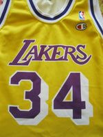 Load image into Gallery viewer, Kids Los Angeles Lakers #34 O'Neal Size L Champion jersey NBA