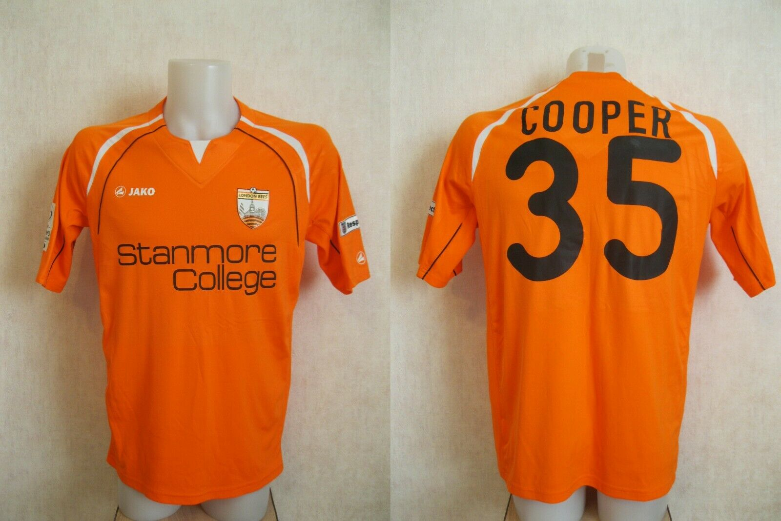 London Bees #35 Cooper 2014 home Size M Jako 4260 jersey
