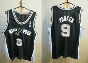 San Antonio Spurs #9 Tony Parker Size 2XL Champion jersey