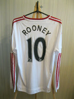 Load image into Gallery viewer, Manchester United #10 Rooney 2015/2016 away Size S Adidas AI6362 jersey