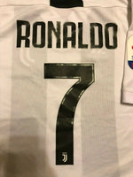 Load image into Gallery viewer, KIDS Juventus #7 Ronaldo 2018/2019 Home Size M Adidas CF3496 jersey