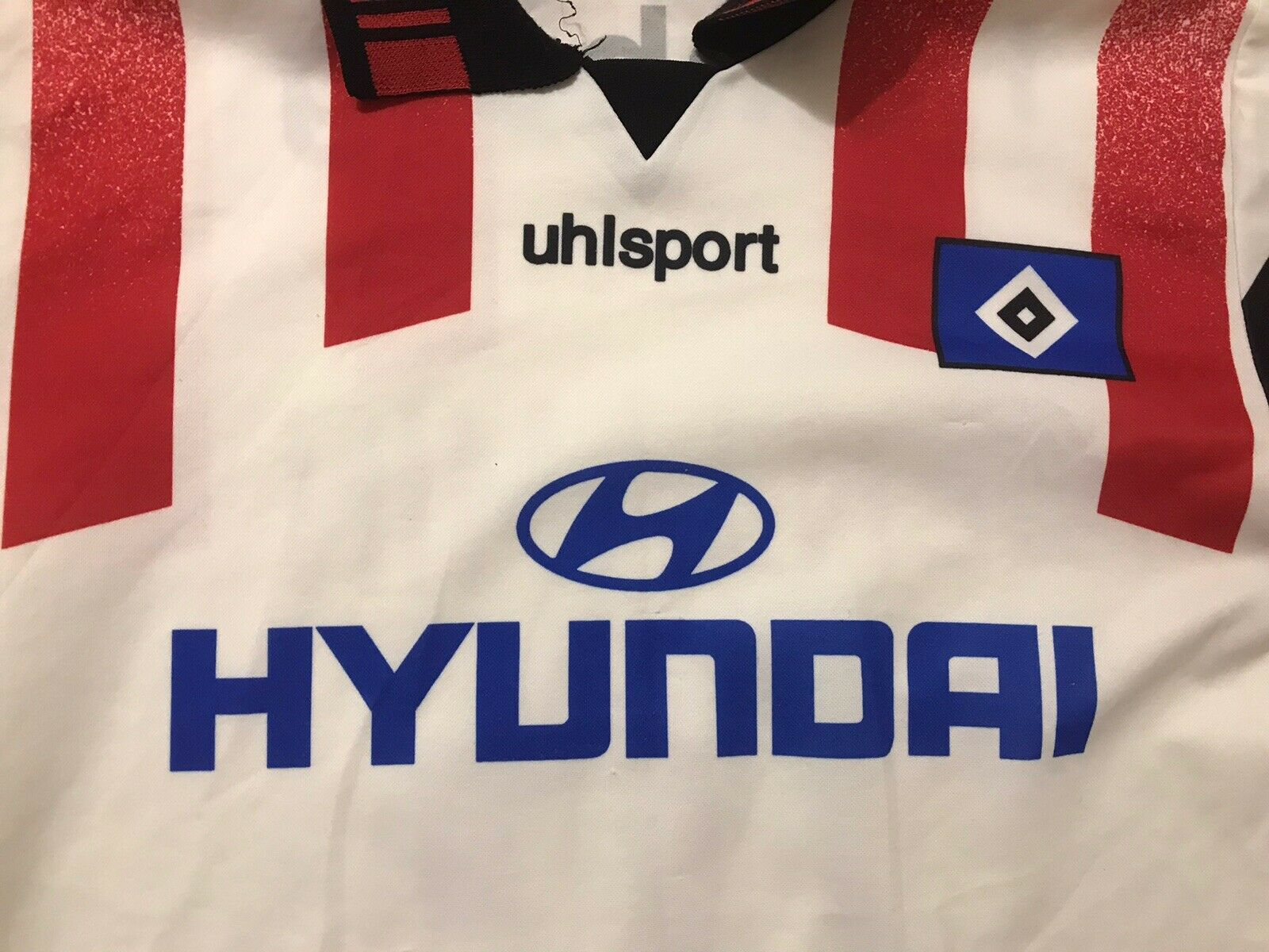 Hamburger SV #16 1995/1996 Home Size M Uhlsport jersey