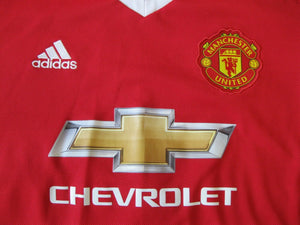 Manchester United 2015/2016 Home Size L Adidas AC1416 jersey