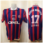 Load image into Gallery viewer, FC Bayern Munich #17 Ziege 1995/1996/1997 Home Size XL Adidas jersey