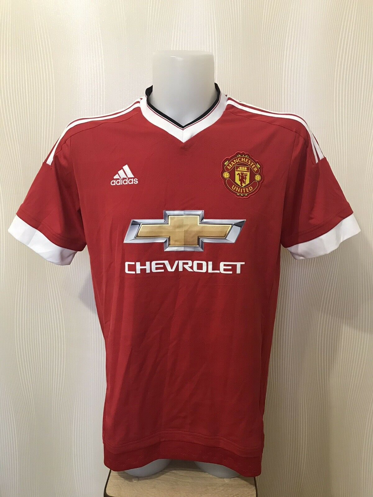 Manchester United 2015/2016 Home Size L Adidas AC1414 jersey