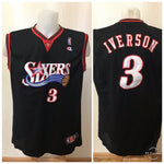 Load image into Gallery viewer, Philadelphia Sixers #3 Iverson Champion Size XL jersey