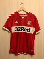 Load image into Gallery viewer, FC Middlesbrough 2018/2019 home Size M Hummel jersey