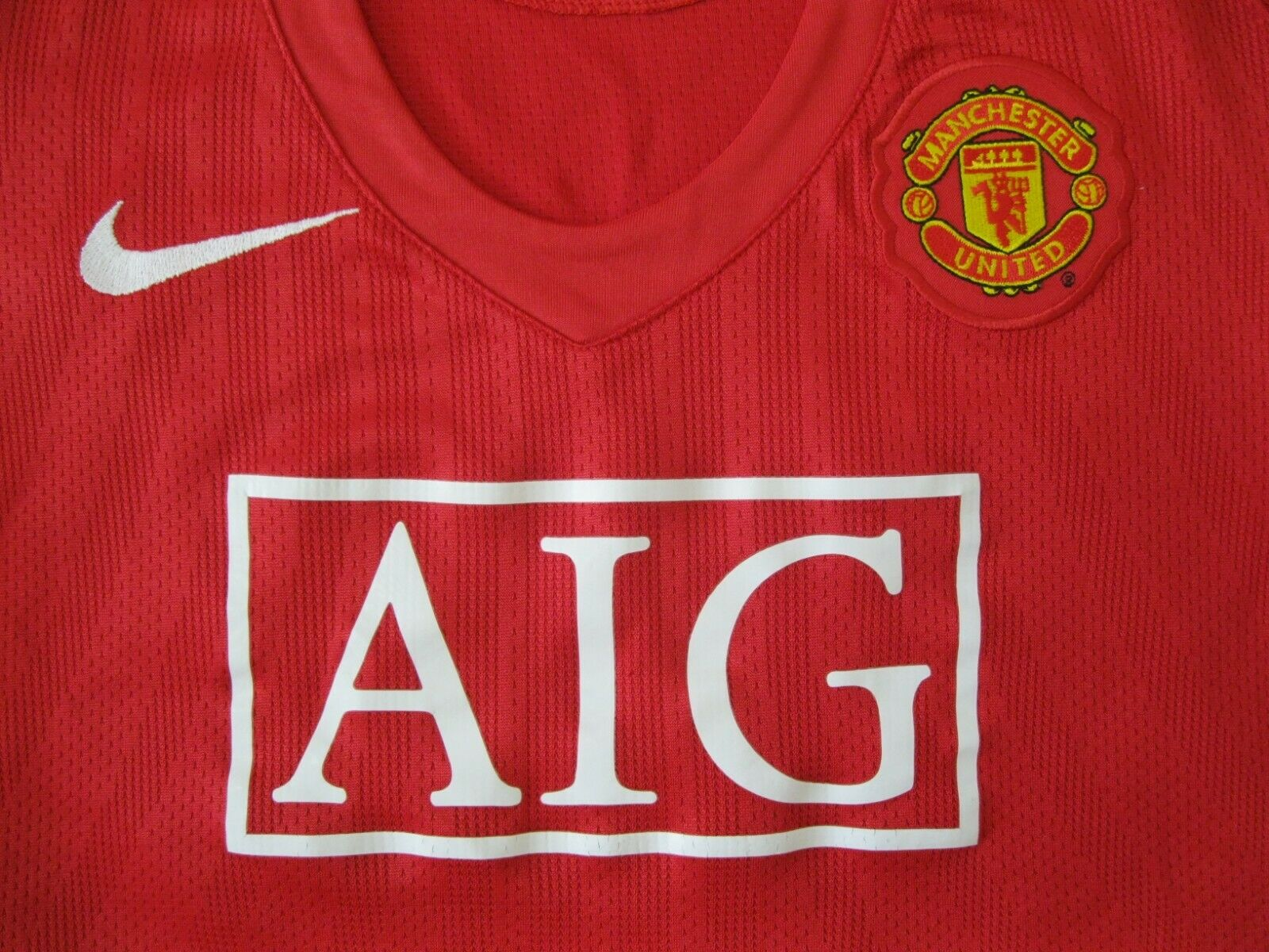 Ladies Manchester United 2007/2008/2009 #08 Home Size M Nike 237944-666 jersey