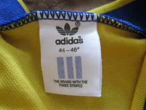 "Sweden national team 1989/1990 Home Size 44/46"" jersey Adidas"