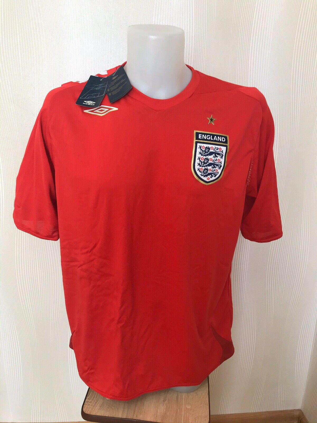 England national team 2006/2007/2008 Home Size XL jersey Umbro