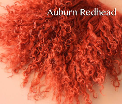 Tibetan Lamb - Hair for Dolls - Auburn Redhead