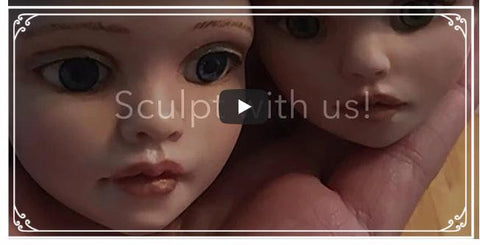 Cast Resin Simple BJD Parts or Doll - Sculpting Reference