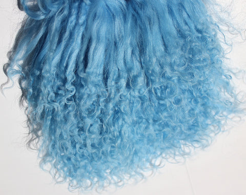 Tibetan Lamb - Hair for Dolls - Ethereal Blue
