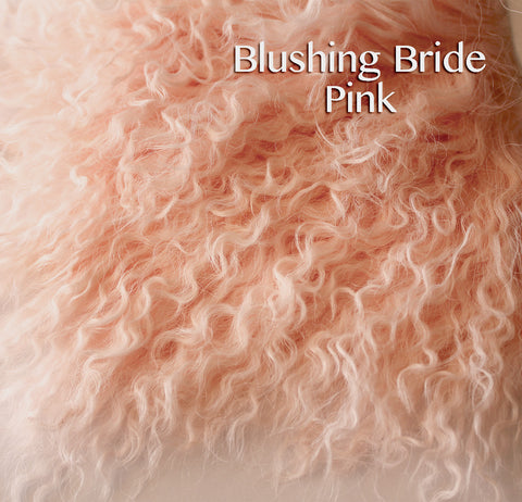 Tibetan Lamb - Hair for Dolls - Blushing Bride Pink