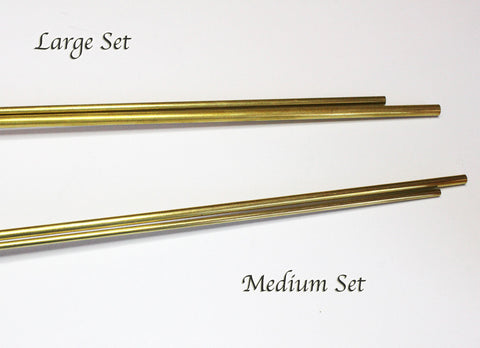 """Invisible Stand"" Brass Tubing Set of 2 - Large: 5/32"" & 1/8"""