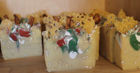 Handcrafted Luxury Soap - Holiday Oatmeal, Milk, & Honey