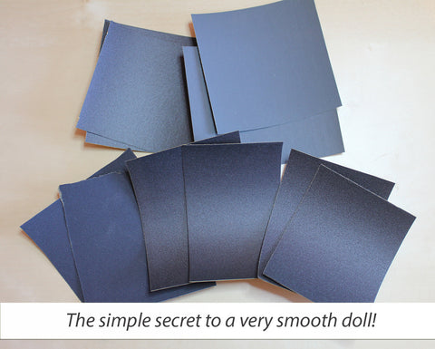 Wet/Dry Sandpaper for Sanding Your Doll