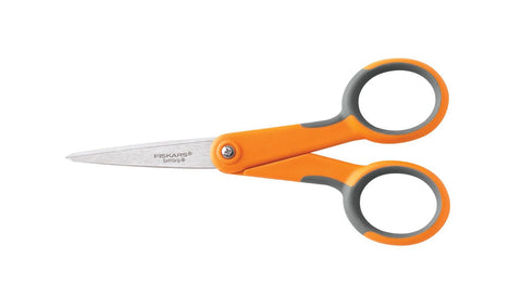Super Sharp Soft-Grip Fiskars Scissors with MicroTip