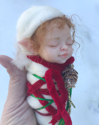 Finished Resin Swaddle Fairy in Woodland or Holiday Styles with bonus videos