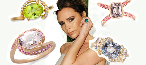 8 Celebrity Engagement Rings With Coloured Gemstones