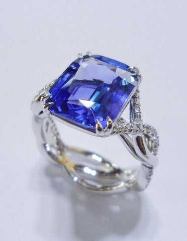 Custom Sapphire Ring by Eva Gems & Jewels