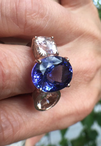Gemstone Ring, Cobalt Blue Blaze