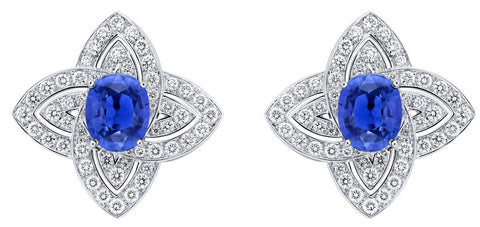Louis Vuitton Blue Sapphire Earrings