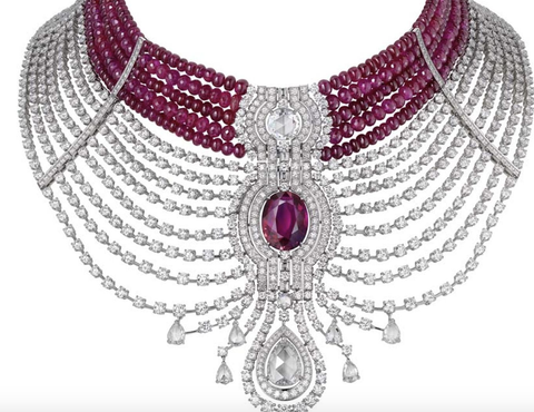 cartier ruby necklace