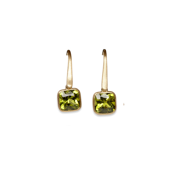 Green Buttons Earrings