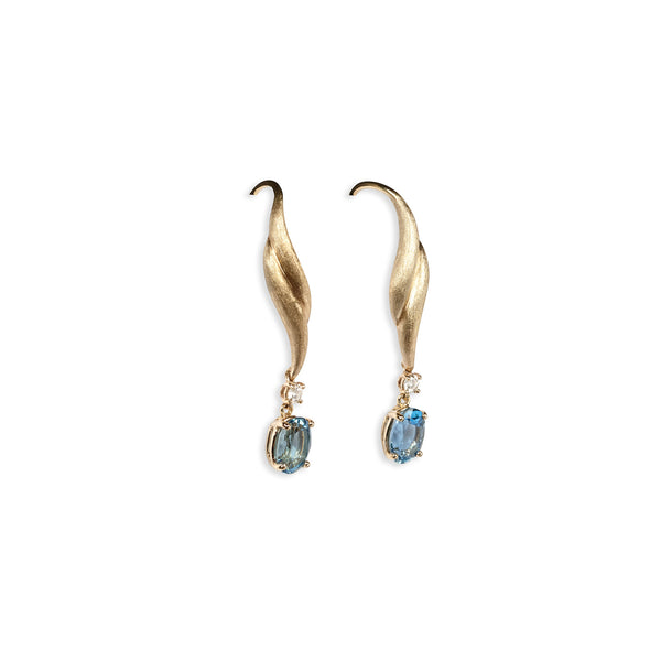 Ice Blue Wings Earrings