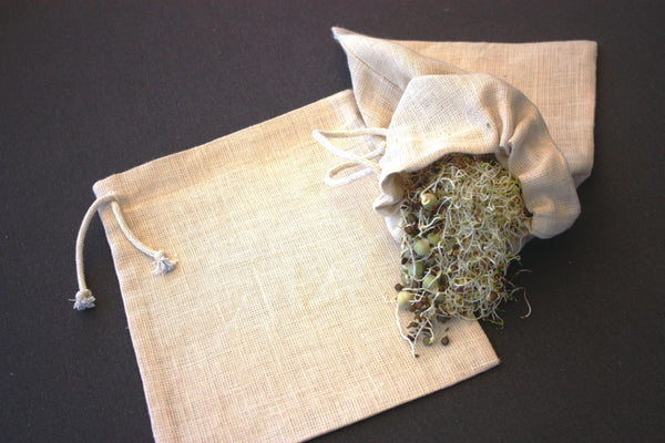 Nutmilk Bag - Sprouts from home from Hemp Gallery Australia