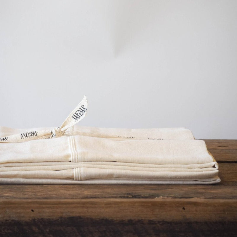 Set of 2 Hemp Linen Pillowcases