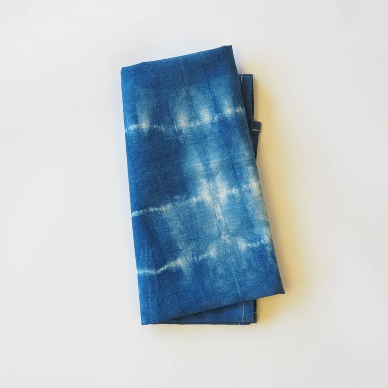 Shibori Linen Tea Towels