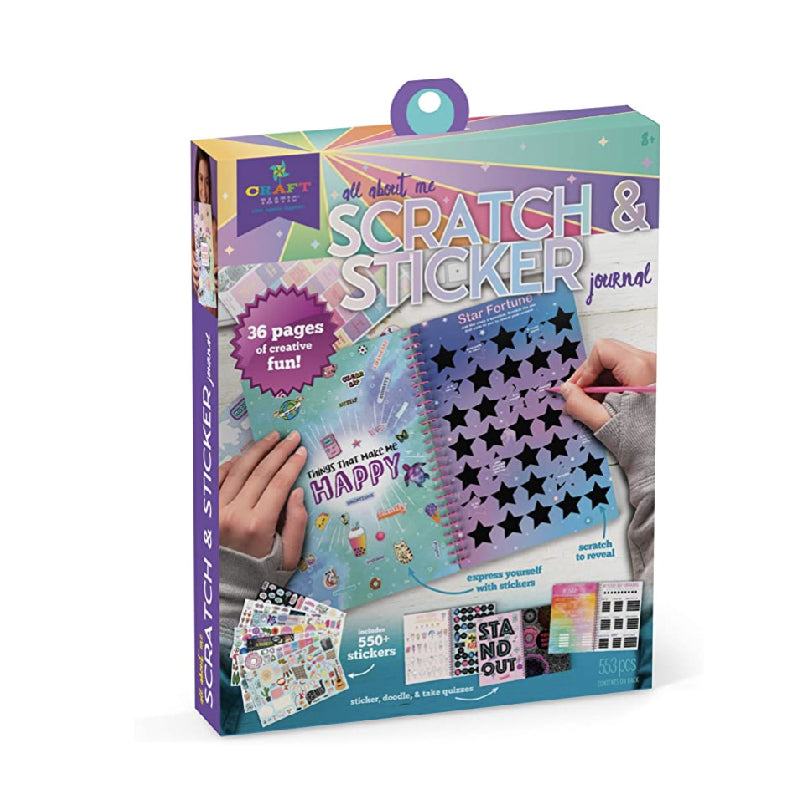 Craft-Tastic Scratch & Sticker Journal