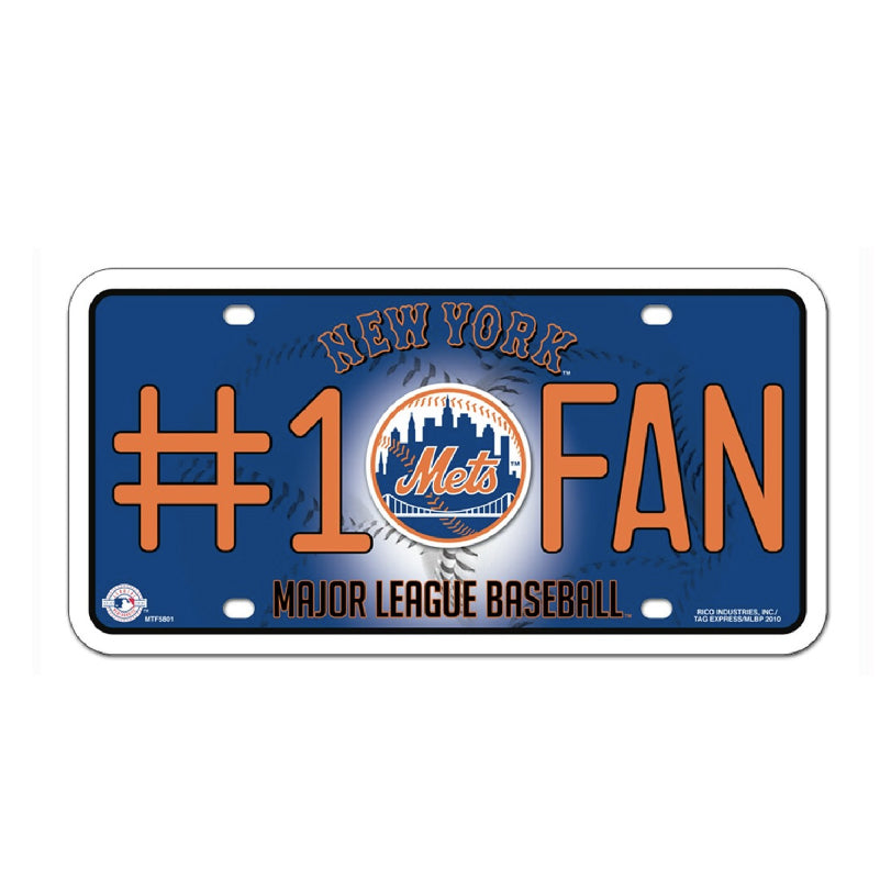 Mets #1 Fan License Plate