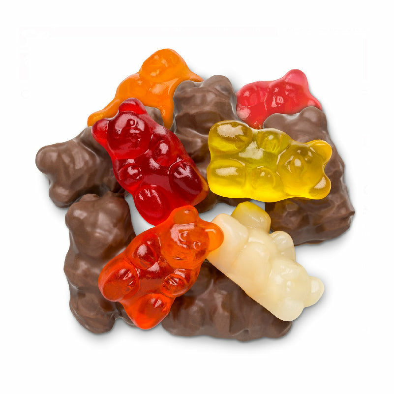 Milk Chocolate Covered Gummy Bears 1/2Lb