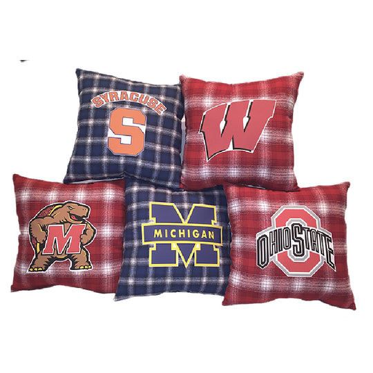 Special Order Plaid College Pillows