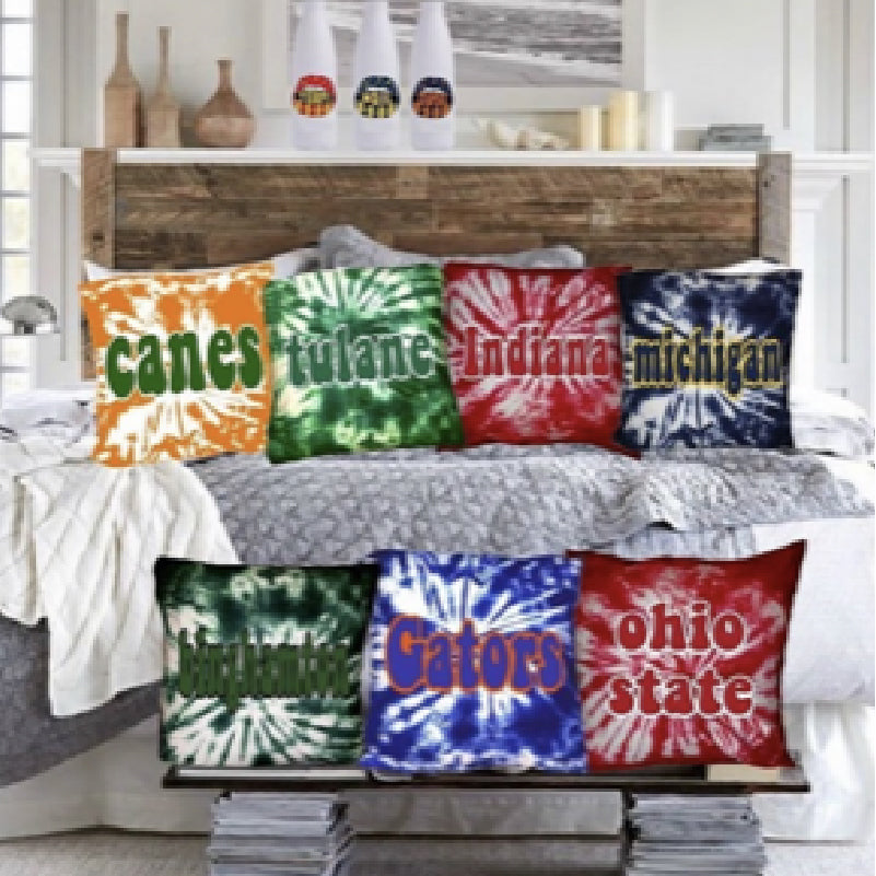 Special Order College Tie Dyed Pillows