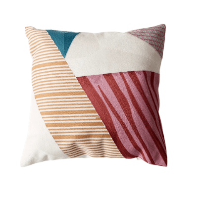 Abstract Colour-Blocking Cushion Cover 06 - OikoSarri