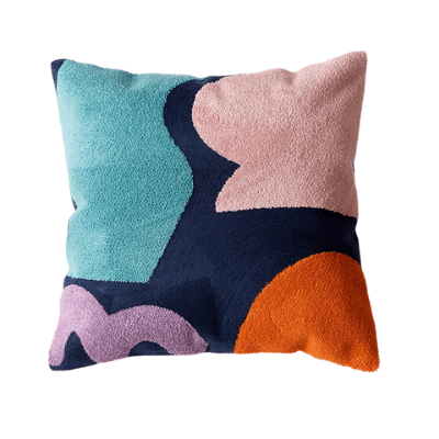 Abstract Colour-Blocking Cushion Cover 05 - OikoSarri