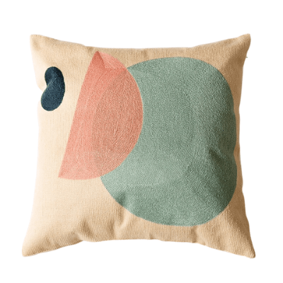 Abstract Colour-Blocking Cushion Cover 07 - OikoSarri