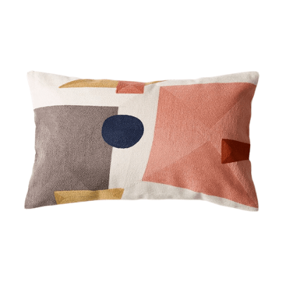 Abstract Colour-Blocking Cushion Cover 03 - OikoSarri