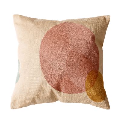 Abstract Colour-Blocking Cushion Cover 04 - OikoSarri