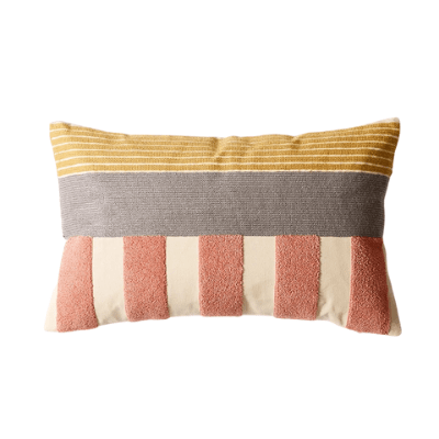 Abstract Colour-Blocking Cushion Cover 01 - OikoSarri
